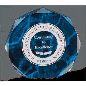 Blue Marble Octagon Acrylic 12hourawards Com