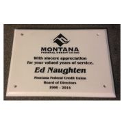 White AcrylaStone Exterior Plaque with Holes