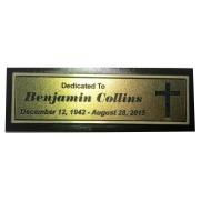 Bronze & Brown Aluminum Bench Plate