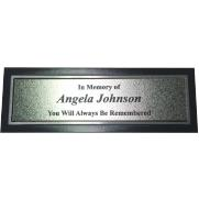 Silver & Black Aluminum Bench Plate