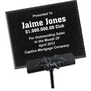 Black AcrylaStone Exterior Plaque