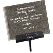 Chocolate AcrylaStone Exterior Plaque