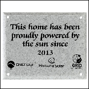 Grey AcrylaStone Exterior Plaque with Holes