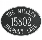 oval aluminum Casting house number Plaque