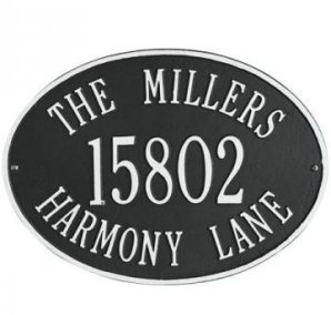 oval House number Aluminum Casting Plaque