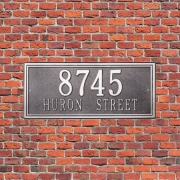 aluminum Casting house number Plaque