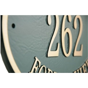 oval bronze Casting house number Plaque