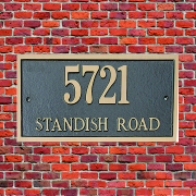 bronze Casting house number Plaque