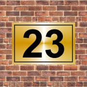 gold Aluminum house number Plate