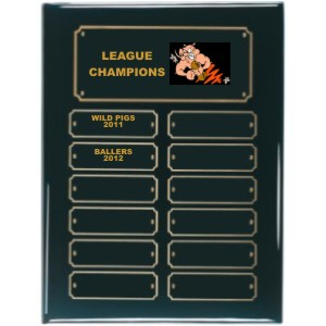 Perpetual Black Piano Finish Fantasy Football Plaque