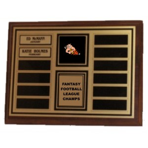 Perpetual Cherry Finish Fantasy Football Plaque