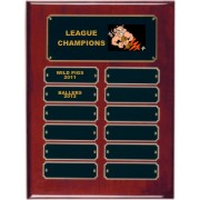 Perpetual Rosewood Piano Finish Fantasy Football Plaque
