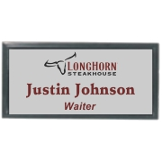 3x1-1/2 Metal Name tag with black holder