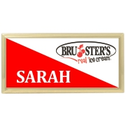 3x1-1/2 Metal Name tag with gold holde