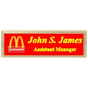 3x1 Metal Name Tag with Holder