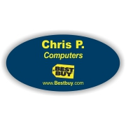 Plastic Oval Name Tag