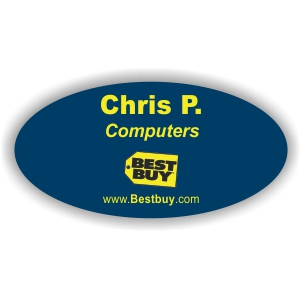 3x1-1/2  Plastic Oval Name Tag