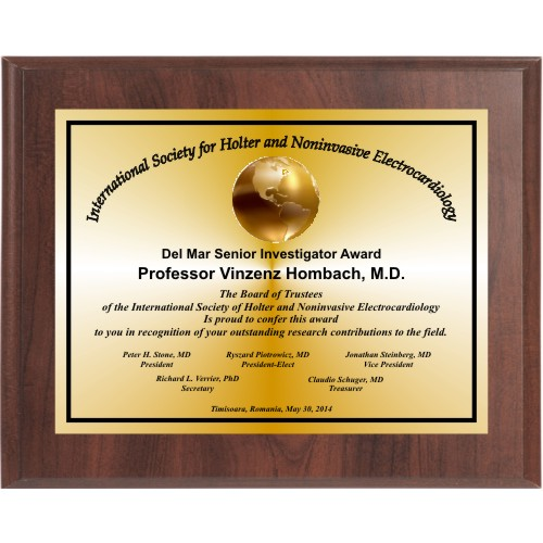 Cherry Finish Landscape Appreciation Plaque | 12HourAwards.com