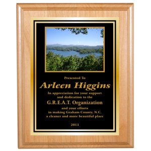 Genuine Red Alder Plaque